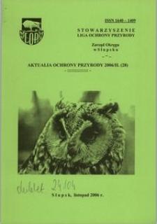 Aktualia Ochrony Przyrody, 2006, nr 28