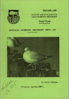 Aktualia Ochrony Przyrody, 2007, nr 29