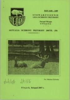 Aktualia Ochrony Przyrody, 2007, nr 30