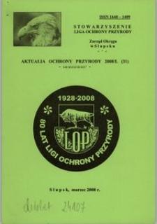 Aktualia Ochrony Przyrody, 2008, nr 31