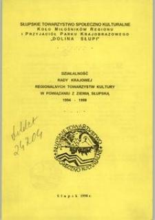 Działalość Rady Krajowej Regionalnych Towarzystw Kultury w Powiązaniu z Ziemią Słupską 1994-1998, nr 2 [2]