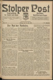 Stolper Post. Tageszeitung für Stadt und Land Nr. 173/1924
