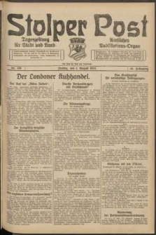Stolper Post. Tageszeitung für Stadt und Land Nr. 179/1924