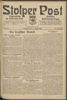 Stolper Post. Tageszeitung für Stadt und Land Nr. 180/1924