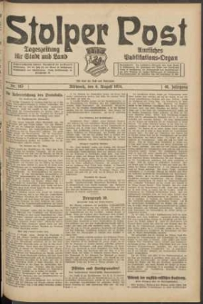 Stolper Post. Tageszeitung für Stadt und Land Nr. 183/1924