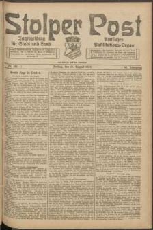 Stolper Post. Tageszeitung für Stadt und Land Nr. 191/1924
