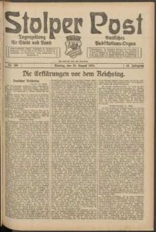Stolper Post. Tageszeitung für Stadt und Land Nr. 199/1924