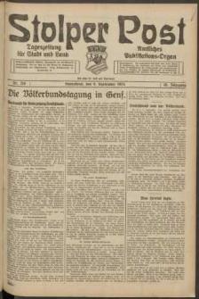 Stolper Post. Tageszeitung für Stadt und Land Nr. 210/1924