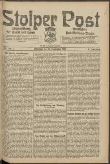 Stolper Post. Tageszeitung für Stadt und Land Nr. 218/1924
