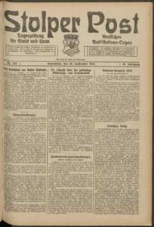 Stolper Post. Tageszeitung für Stadt und Land Nr. 222/1924
