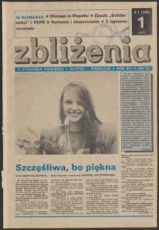 Zbliżenia : tygodnik społeczno-polityczny, 1990, nr 1