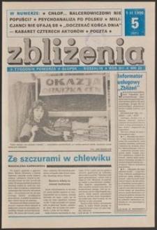 Zbliżenia : tygodnik społeczno-polityczny, 1990, nr 5
