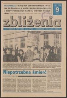 Zbliżenia : tygodnik społeczno-polityczny, 1990, nr 9