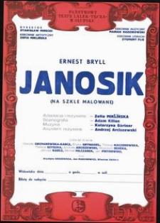 [Plakat] : Janosik (na szkle malowane)