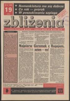 Zbliżenia : tygodnik prywatny, 1990, nr 19