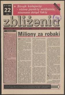 Zbliżenia : tygodnik prywatny, 1990, nr 22