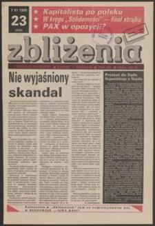 Zbliżenia : tygodnik prywatny, 1990, nr 23
