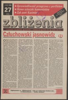 Zbliżenia : tygodnik prywatny, 1990, nr 27