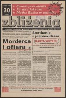 Zbliżenia : tygodnik prywatny, 1990, nr 30