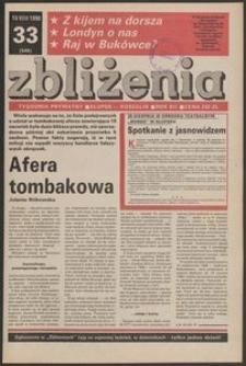 Zbliżenia : tygodnik prywatny, 1990, nr 33