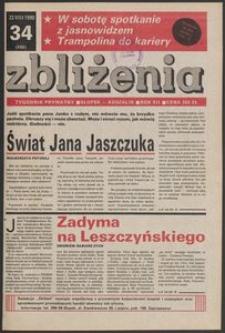 Zbliżenia : tygodnik prywatny, 1990, nr 34