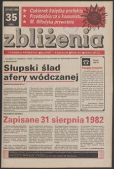 Zbliżenia : tygodnik prywatny, 1990, nr 35