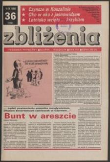 Zbliżenia : tygodnik prywatny, 1990, nr 36