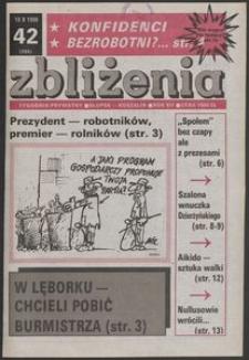 Zbliżenia : tygodnik prywatny, 1990, nr 42