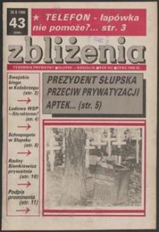 Zbliżenia : tygodnik prywatny, 1990, nr 43