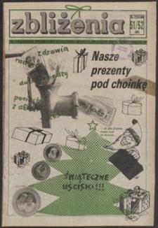 Zbliżenia : tygodnik prywatny, 1990, nr 51/52