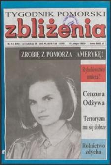 Zbliżenia : Tygodnik Pomorski, 1993, nr 5