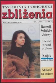 Zbliżenia : Tygodnik Pomorski, 1993, nr 10