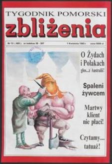 Zbliżenia : Tygodnik Pomorski, 1993, nr 13