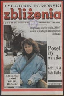 Zbliżenia : Tygodnik Pomorski, 1993, nr 15/16