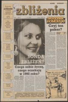 Zbliżenia : Tygodnik Pomorski, 1992, nr 1