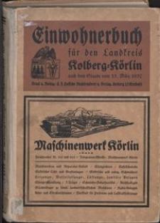 Einwohnerbuch für den Landkreis Kolberg-Körlin 1937