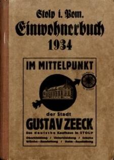 Stolp i Pom. Einwohnerbuch 1934
