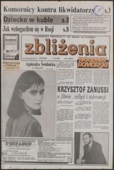 Zbliżenia : Tygodnik Pomorski, 1992, nr 49