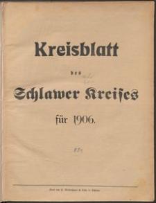 Kreisblatt des Schlawer Kreises 1906