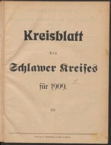 Kreisblatt des Schlawer Kreises 1909