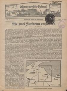 Ostpommersche Heimat, 1929-1930