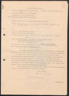 Abschrift der Reichsminister der Luftfahrt und Oberbefehlshaber der Luftwaffe. 25.07.1941