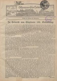 Ostpommersche Heimat, 1931-1932