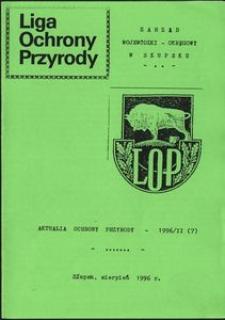 Aktualia Ochrony Przyrody, 1996, nr 7