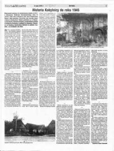 Historia Kobylnicy do roku 1945
