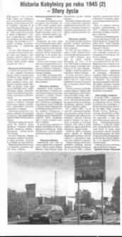 Historia Kobylnicy po roku 1945 (2) - Sfery życia