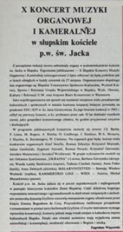 X Koncert Muzyki Organowej i Kameralnej w słupskim kościele p.w. św. Jacka