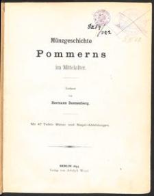 Münzgeschichte Pommerns im Mittelalter