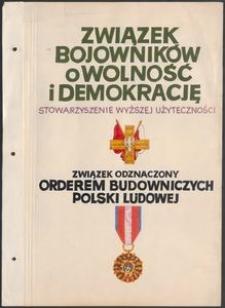 Kronika Koła Miejskiego ZBoWiD w Słupsku