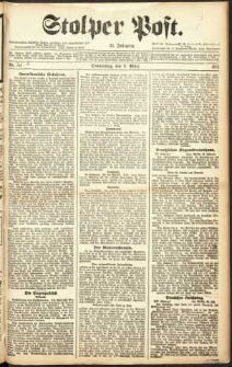 Stolper Post Nr. 52/1911